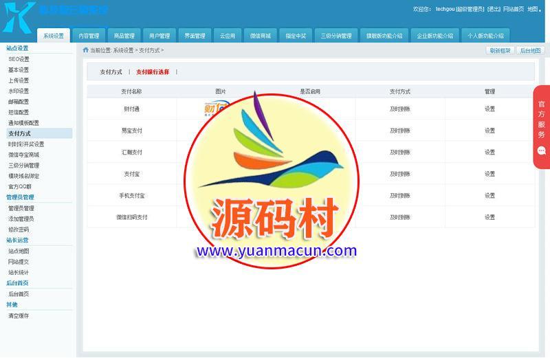 科技狗云购PHP系统商城源码程序V7.0商业版