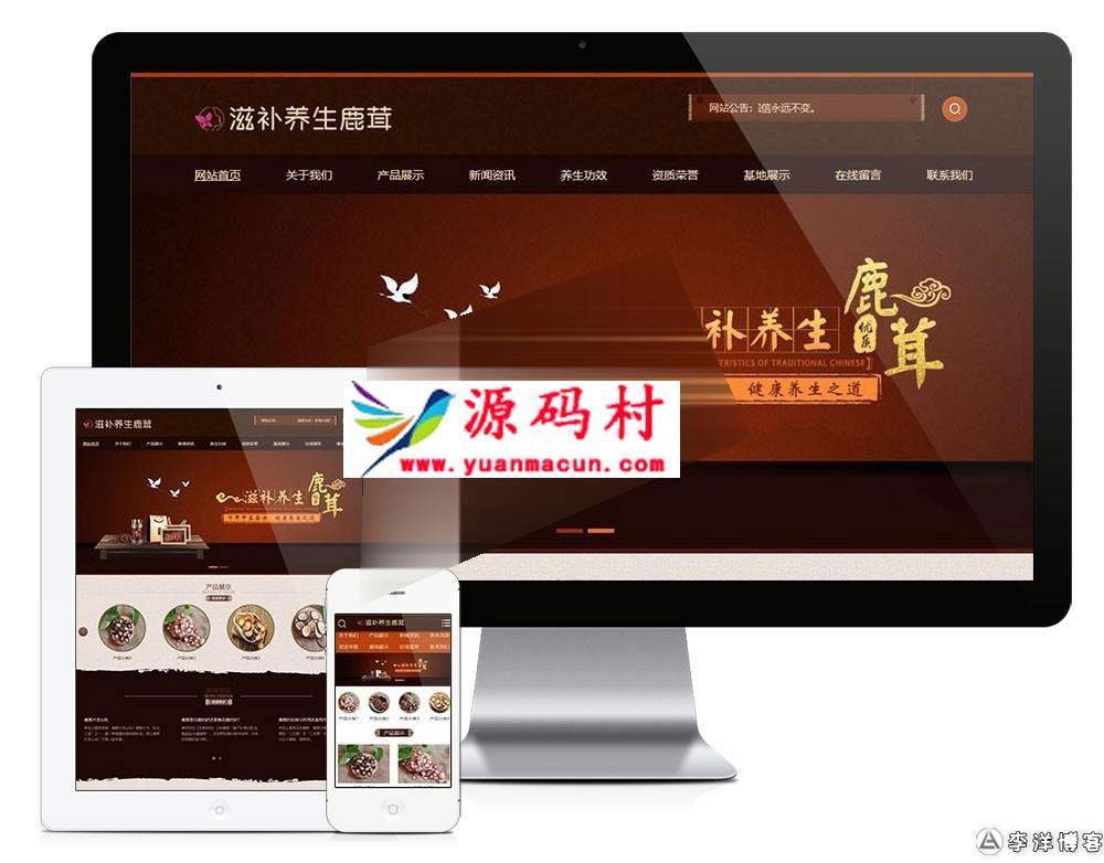 易优cms医疗保健品公司网站模板源码 手机版