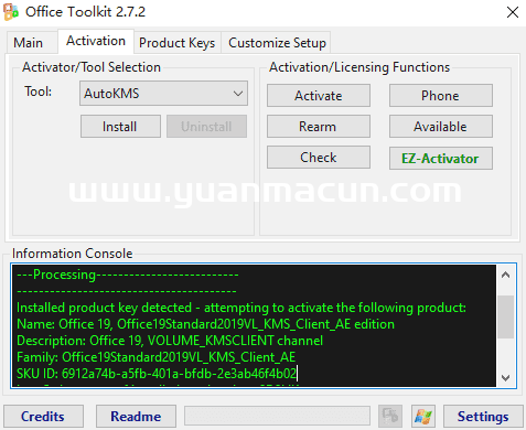 Microsoft Toolkit v2.7.2Microsoft产品KMS激活方案工具